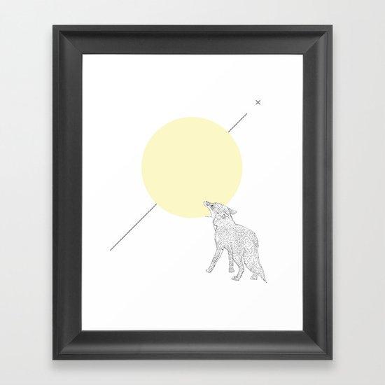 Bite the moon Framed Art Print