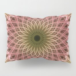Detailed mandala in gold and red ones Pillow Sham