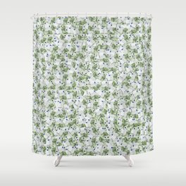 Giant money background 100 euro notes / 3D render of thousands of 100 euro notes Shower Curtain
