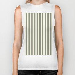 Beige Stripes Pattern Biker Tank