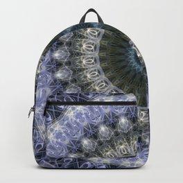 Amethyst mandala with blue star Backpack