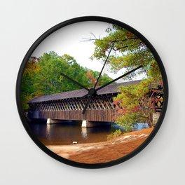 Georgia Stone Mountain Covered Bridge Wall Clock