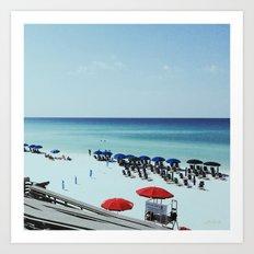 Day at the beach serie #2 Art Print