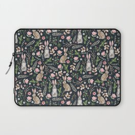 Cute rabbits (dark blue) Laptop Sleeve