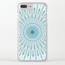 Bayou Blue Clear iPhone Case