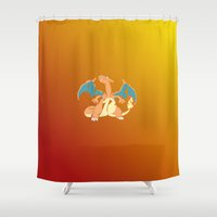 charizard Shower Curtains featuring charizard by pokegirl93