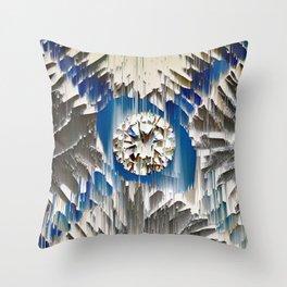 diamond in the blue agate cross Throw Pillow