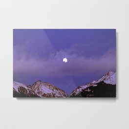 Sentimental Moon Metal Print