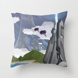 Installation 04 (Halo) Travel Poster Throw Pillow