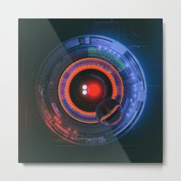BINARY PUPIL (everyday 03.28.16) Metal Print