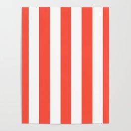 Ogre Odor - solid color - white vertical lines pattern Poster