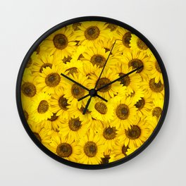 Lots of sunflowers Wall Clock