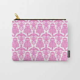 Floral Pattern Pink Carry-All Pouch