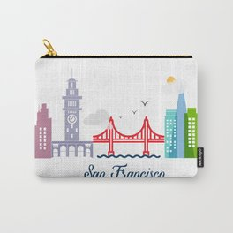 what a colorful city San Francisco, CA. v2. Carry-All Pouch