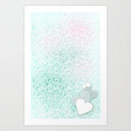 Icy Love Art Print