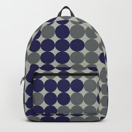 Dots bricks in deep blue and gray Backpack
