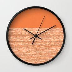 Riverside - Celosia Orange Wall Clock
