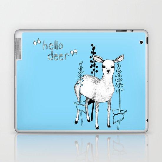 hello deer! Laptop & iPad Skin