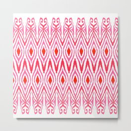 Ikat Watermelon Metal Print