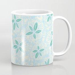 Sea Blue Lily Flower Coffee Mug