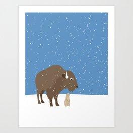 buffalo & prairie dog - I've got you covered Art Print
