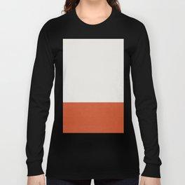 Burnt Orange Color Block Long Sleeve T-shirt