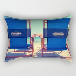 Beach Chair View Rectangular Pillow