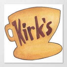 Kirk's - Luke's Diner Parody Sign from Gilmore Girls Canvas Print