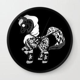 Black poni Wall Clock