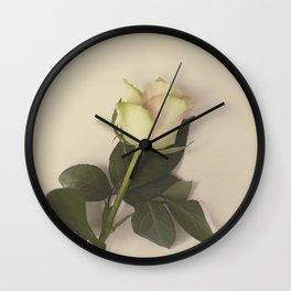 Dusky pink rose Wall Clock