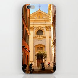 Church Street Scene in Vieux Nice iPhone Skin