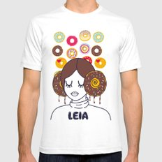 Princess Donut Leia SMALL White Mens Fitted Tee