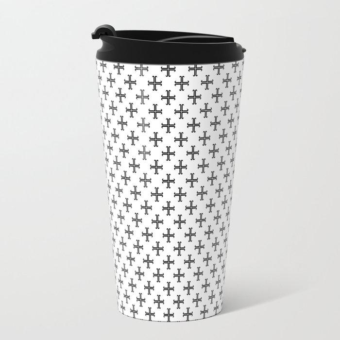 Black Cross Travel Mug