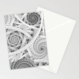 GET LOST - Black and White Spiral Stationery Cards