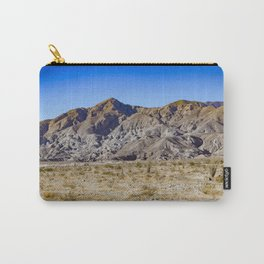Looking Back towards Granite Mountain across the Highway in the Anza Borrego Desert State Park Carry-All Pouch