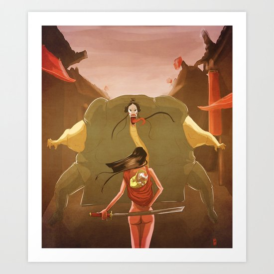 Samurai girl and the prince of the white demons #1 Art Print