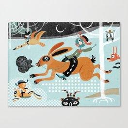Night run Canvas Print