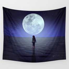 Moon alk Wall Tapestry