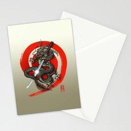 Dragon Katana2 Stationery Cards