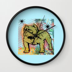 Cool dog pop art Wall Clock