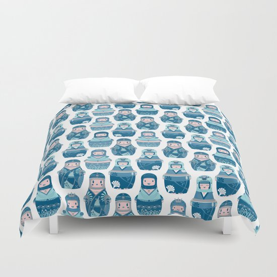 Matrioshkas Pattern Duvet Cover