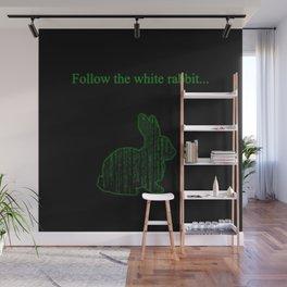 Follow the white rabbit Wall Mural