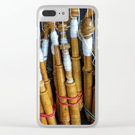 Bolillos or Lace Spindles Clear iPhone Case