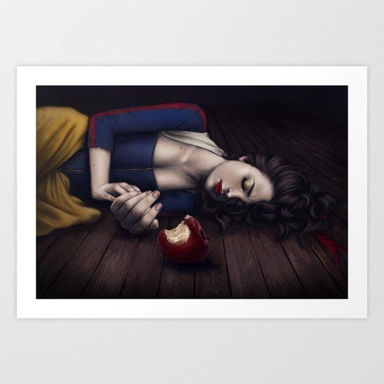 Poisoned apple Art Print
