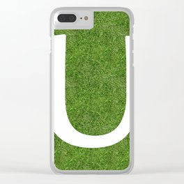 U initial letter alphabet on the grass Clear iPhone Case