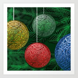 Celtic Ornaments on The Tree Art Print