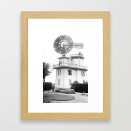 A windmill used to pump water for irrigation, Compton, California, ca.1900-1901 Framed Art Print