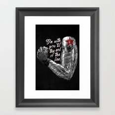 'Til the End of the Line Framed Art Print