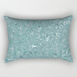 Teal, Terrazzo, Shiny Glass, Tile, Design Rectangular Pillow