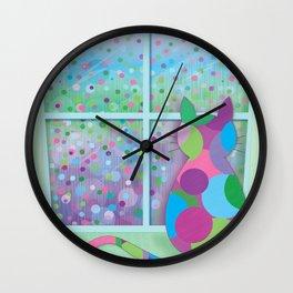 Beautiful Rainy Day Wall Clock